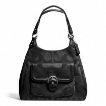 Coach Campbell Signature Hobo F24742 - Black/Black