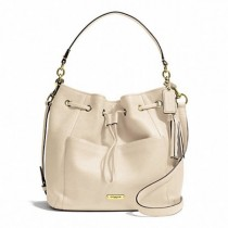 Coach Avery Leather Drawstring F27003 - White