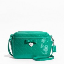 Coach Embossed Liquid Gloss Mini Camera Bag F49430 - Bright Jade