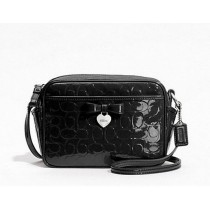 Coach Embossed Liquid Gloss Mini Camera Bag F49430 - Black