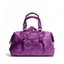 Coach Ashley Dotted Op Art Satchel F20027 - Berry/Berry (Delivery: 2 - 4 working days)