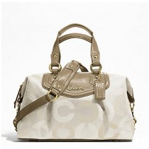Coach Ashley Dotted Op Art Satchel F20027 - Light Khaki/Taupe (Delivery: 2 - 4 working days)