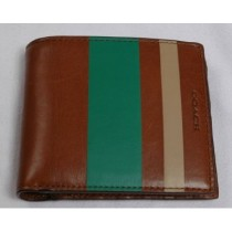 Coach Bleecker Legacy Debossed Painted Stripe Slim Billfold 74493 - Fawn/Kelly (Delivery: 2 - 4 working days)