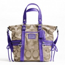 Coach Daisy Signature Pocket Tote F20101 - Khaki/Violet (Delivery: 2 - 4 working days)