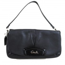 Coach Leather Large Flap Wristlet F48245 - Black (Delivery: 2 - 4 working days)