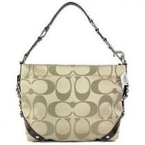 Coach Signature Sateen Carly F15250 - Khaki/Mahogany (Delivery: 2 - 4 working days)