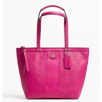 Coach Signature Stripe Perforated Tote F21941 - Watermelon (Delivery: 2 - 4 working days)