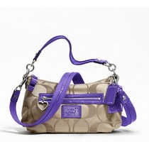 Coach Daisy Signature Crossbody  F20044 - Khaki/Violet (Delivery: 2 - 4 working days)