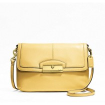 Coach Kristin Leather Flap Crossbody F48986 - Buttercup (Delivery: 2 - 4 working days)