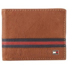 Tommy Hilfiger Men's Yale Double Billfold - Saddle Tan
