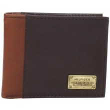 Tommy Hilfiger Men's Melton Passcase Billfold - Brown