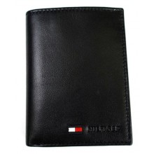 Tommy Hilfiger Stockton Polished Lamb Credit Card Organizer - Black (Delivery: 2 - 4 working days)